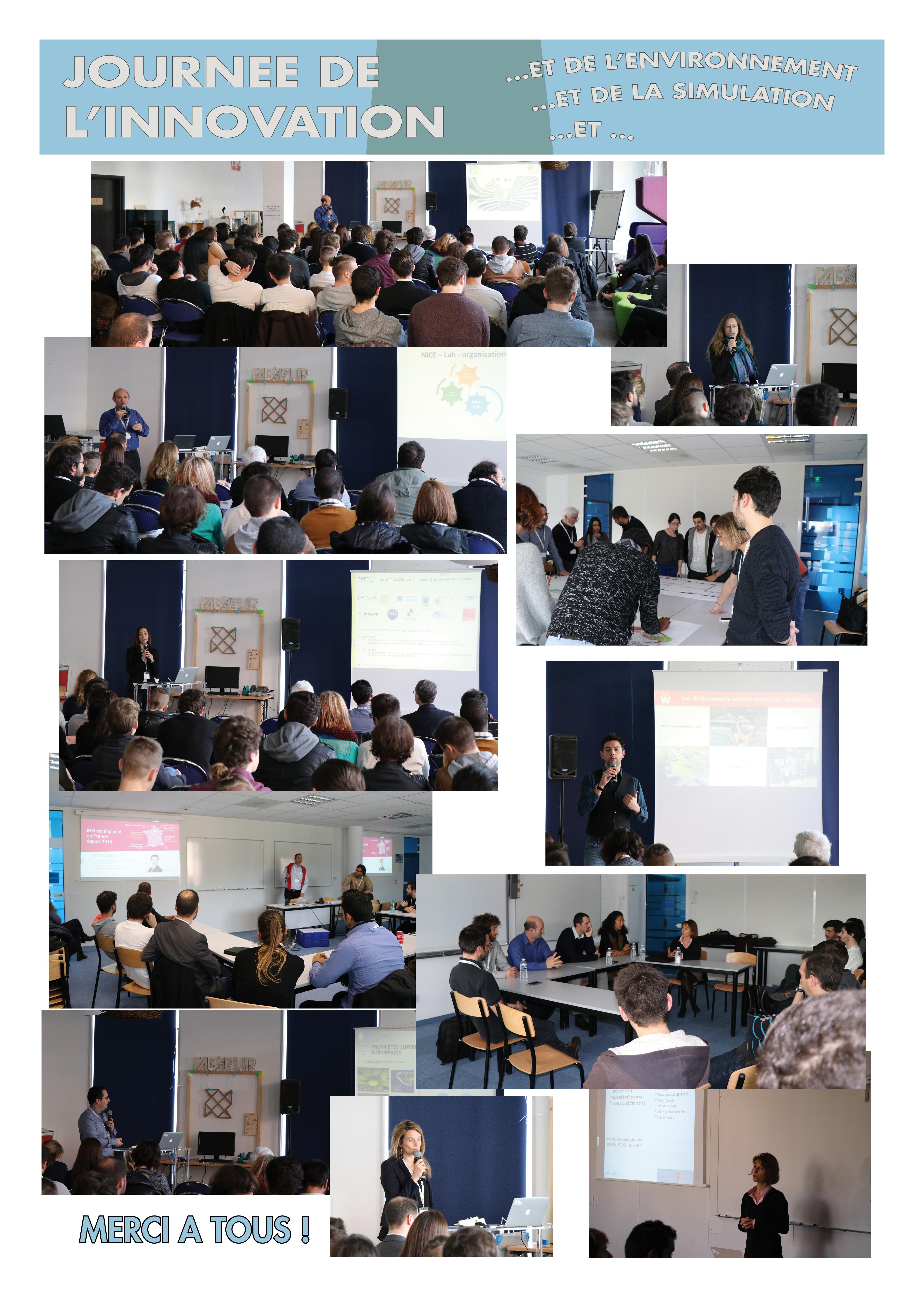 La journée de l'innovation organisée le 30 janvier 2017 à l'IMREDD a été riche en discussions. Merci aux conférenciers, animateurs des tables rondes et participants.